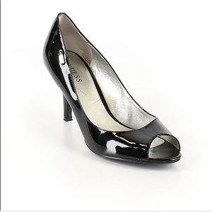 Guess By Marciano Black Open Toe Heels